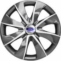 Jogo Calota Aro 13 Graphite Ford Ka Fiesta Escort - 4 Peças