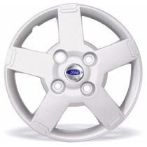 Jogo Calotas Ford Ka Fiesta Courier 09/.. Aro 13 Com Emblema