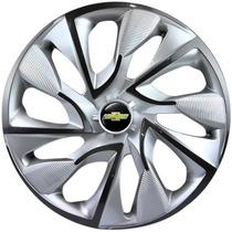Calota Aro 14 Ds4 Esportiva Silver Gm Corsa Prisma Meriva