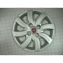 Calotas Aro 14 (04 Peças )p/ Palio Attractive + Emblema Fiat