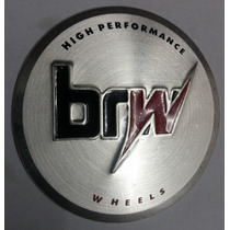 Emblema Adesivo Centro Roda Brw Original 65mm Aluminio