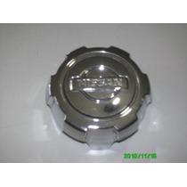 Calota Centro Roda Nissan Cromada Aro 15 Semi Nova Original