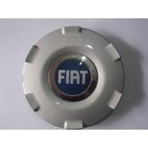 Calota Centro Roda Fiat Original Aro 15 Semi Nova Prata