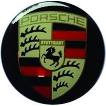 Kit 4 Emblemas Porsche - Roda/calota-base Alumínio- 51mm