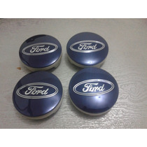 Kit Calotinha Centro Da Roda Ford Focus Azul 55mm
