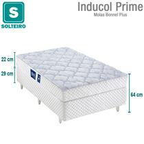 Cama Box Solteiro Inducol + Colchão Prime Mola Bonnel