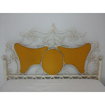 Cama De Ferro Decorada (queen Size)