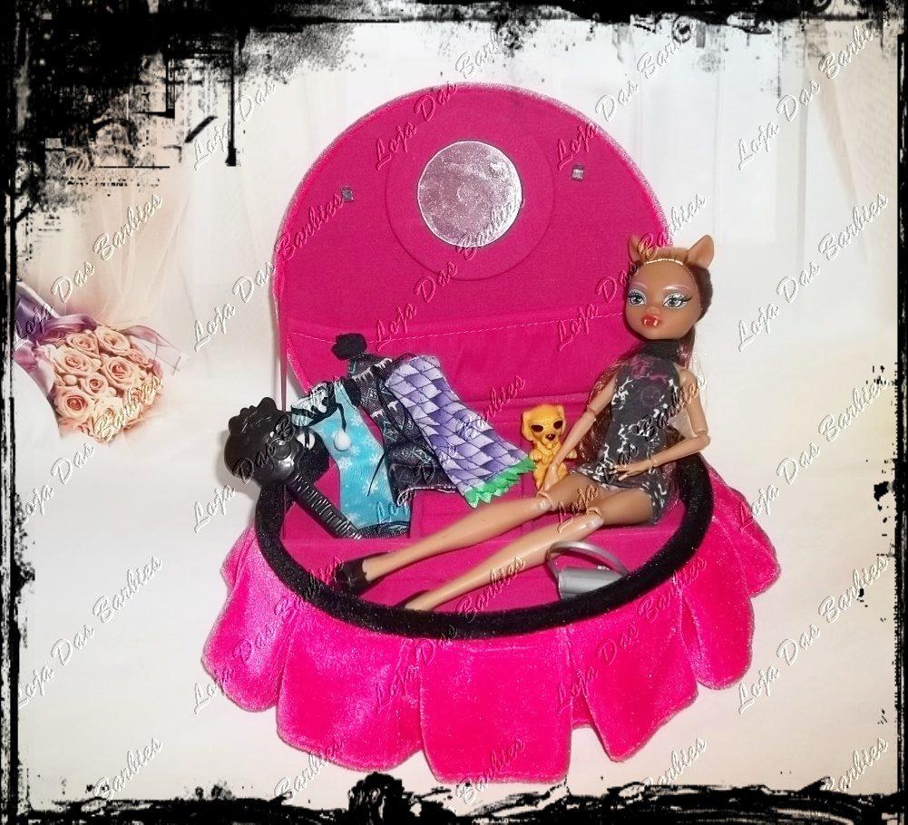 Cama de luxo para boneca monster high estilo t mulo - Camas monster high ...