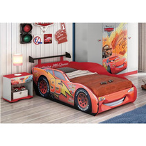 Cama Carros Mc Queen 100% Mdf Disney Star Pura Magia