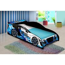 Cama Carro Para Meninos Drift Azul - J&a-compre Móveis