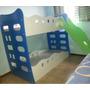 Beliche Infantil Com Grade De Proteção E Escorregador - 170x