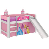 Cama Com Escorregador Princesas Disney Play
