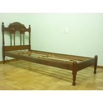 03 Camas De Solteiro De Madeira Maciça, Estilo Colonial
