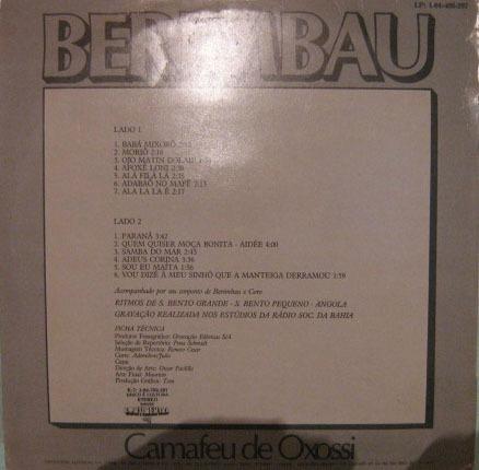 Camafeu De Oxossi - Berimbau - 1980