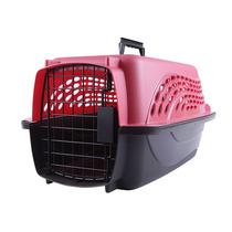 Caixa De Transporte Com 02 Portas Kennel Petmate Rosa