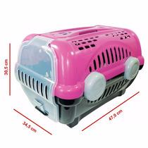 Caixa De Transporte Luxo P/ Cães E Gatos Furacão Pet Rosa
