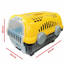 Caixa De Transporte Luxo P/ Cães E Gatos Furacão Pet Amarelo