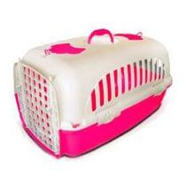 Caixa Transporte Cães Gatos Nº2 Travel Pet Pop Rosa 54x37x33