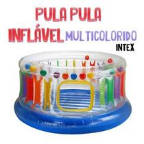 Pula Pula Inflável Multi Colorido Intex