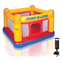 Pula Pula Inflável Infantil Jump-o-lene Intex + Bomba Manual
