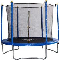 Cama Elastica Trampolim Infantil 2,43m Rede De Proteção