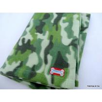 Cobertor Pet Cachorro Soft Camuflado 90x70cm