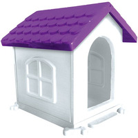 Casa Plástica Cães Dog Desmontável N1 Roxa