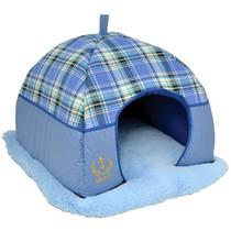 Cama Tenda Luxo Para Cães E Gatos Azul