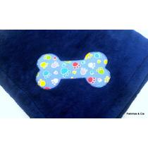 Cobertor Pet Cachorro Microfibra C/ossinho Bordado 1m X 85cm