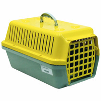 Caixa / Casinha Para Transportar Cachorro Ou Gato Amarela