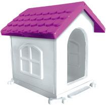 Casa Plástica Cães Dog Desmontável N1 Rosa