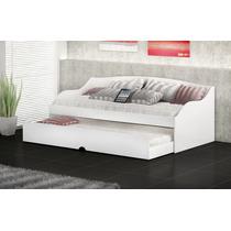 Bicama Lais Branco Estilo Sofa S/ Colchão