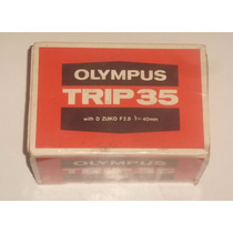 Máquina Fotográfica Olympus Trip 35 - Embalagem E Manual