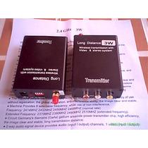 Kit Transmissor Receptor Sem Fio Wireless Áudio E Video 3 Km