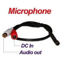 Microfone Amplificado Para Câmera De Cftv Dvr Alcance 40 M²