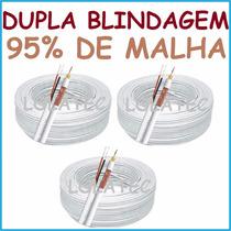 Cabo Coaxial 4mm Cftv Alimentação Bipolar 3x 100mts = 300mts
