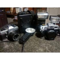 Kit Fotografo-maquinas E Flash Antigos