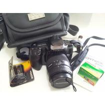 Câmera Fotográfica Minolta Maxxum 300si Completa Analógica