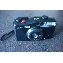 Maquina Camera Fotografica Yashica Mg 3 34 Mm Lentes S Teste