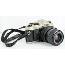 Câmera Fotográfica Nikon Fm10 Analógica 35mm + Lente 35-70mm