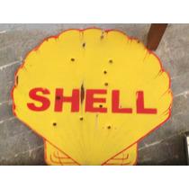 Placa Antiga Vintage Da Shell