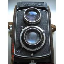 Camera Fotográfica Yashica Flex Antiga Rara Case Couro
