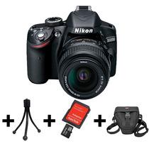 Camera Digital Nikon D3200+lente 18-55mm+32gb+bolsa+tripé