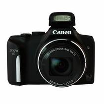 Câmera Digital Canon Sx170 Is Preta 16mp, Lcd 3 + Cartão 8gb