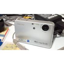 Camera Digital Cyber-shot T3 - 5.1 Mp + Acessórios E Caixa