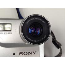 Máquina Fotográfica Sony Mavica Mvc-fd75 Antiga Para Peças