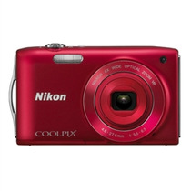 Câmera Digital Vermelha 16mp - Nikon