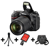 Camera Nikon D7200+lente 18-140mm+32gb+bolsa+tripé