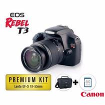 Novíssima! Canon Eos T3 12.2 Mp 18-55 Mm F/3.5-5.7 Premium K