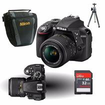 Câmera Nikon D3300 Kit 18-55mm + Cartão 32gb + Bolsa + Tripé